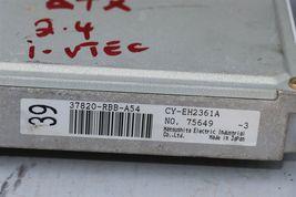 04 TSX 2.4L ATX ECU ECM Engine Module Ignition w/ Immo & 1 Key 37820-RBB-A54 image 3