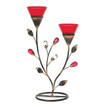 Ruby Blooms Candleholder - $26.03