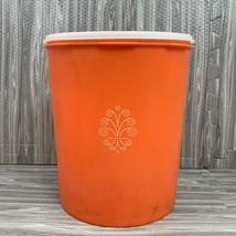 Vintage Tupperware Storage Canister Lid 9.5 Inch #1339 Harvest Orange - $14.99
