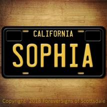 Sophia California Name License Plate Aluminum Vanity Tag - $16.82