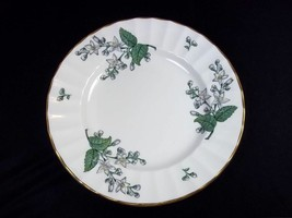 """Royal Worcester Valencia bone china bread plate white flowers gold rim 6.25"""" - $12.13"""