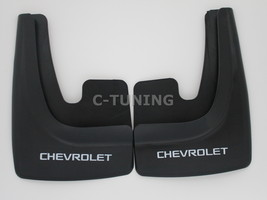 Universal car mud flaps with Chevrolet logos rear or front 3D custom sno... - £22.80 GBP