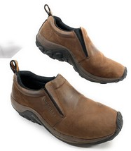 Merrell Jungle Moc Nubuck Brown Leather Slip On Loafers Shoes Men's 10.5 US - $59.39