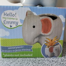 "Emmy Elephant Planter - Ceramic Animal Pot for Succulents 4"" image 3"