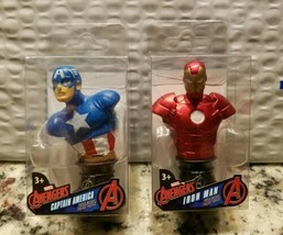 "Marvel Avengers Captain America  Ironman Mini 3"" Figurine Bust Paperweight NEW  - $7.90"