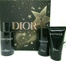 Christian Dior Sauvage Cologne 3.4 Oz Eau De Toilette Spray 3 Pcs Gift Set  image 5
