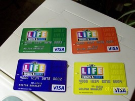 2#R   The Game of Life Twists & Turns 4 Visa Card & 4 Scorecards - $11.85