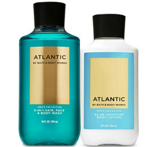 Bath & Body Works Atlantic Body Lotion + 3-in-1 Hair, Face & Body Wash Duo Set - $32.95