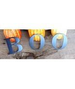BOO  BLOCK STYLE METAL WALL ART/PUMPKIN ART/HALLOWEEN DECOR - $8.99