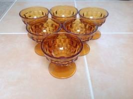 Lot Of 6- Vintage Amber Fostoria Sherbet Glasses - $10.40