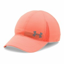 NEW! Under Armour Girl's Heatgear Reflective Adjustable Shadow Cap-Peach - $44.43