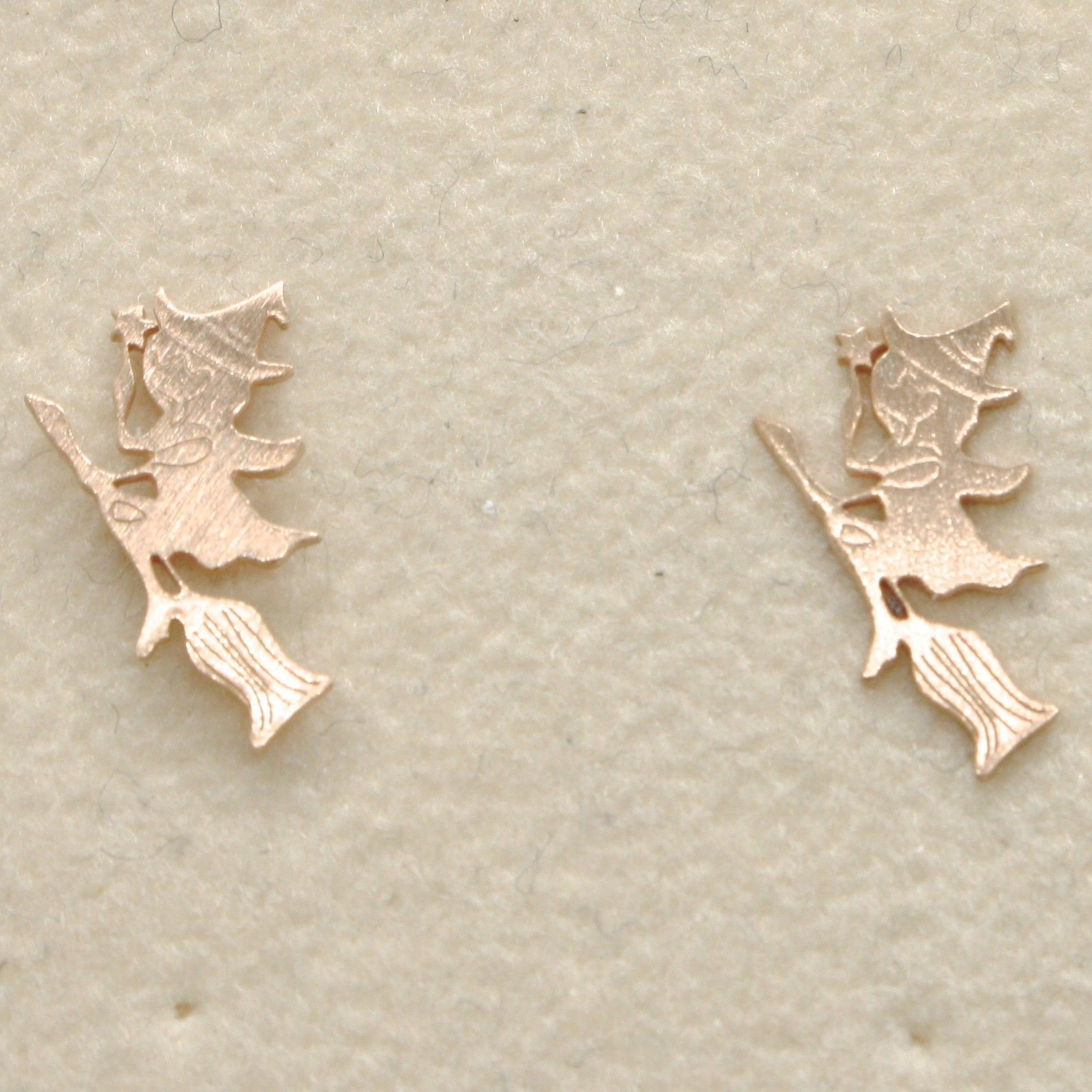 "925 STERLING ROSE SILVER ""LE FAVOLE"" EARRINGS, WITCH, TALE, MADE IN ITALY"