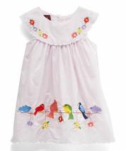 NEW Lil Cactus Baby Girls Pink Bird Embroidery Sleeveless Yoke Dress 3-6... - $12.99