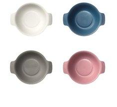 Cereal Bowl Salad Bowl 4Pcs Set Microwavable 4-color Ivory 1pcs Blue 1pcs Gray 1