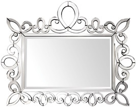 XL Scroll MURANO VENETIAN STYLE MIRROR Horchow, Fireplace Mantle Buffet ... - $730.62