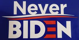Wholesale Lot of 6 Never Biden Blue Decal Bumper Sticker - $13.88