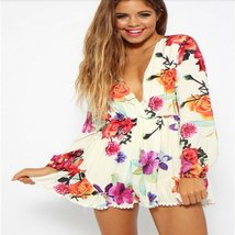 Summer Loose Floral Printed Rompers - $29.56