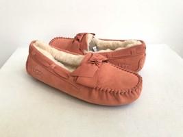Ugg Dakota Leather Bow Vibrant Coral Shearling Line Slipper Us 6 / Eu 37 /UK 4.5 - $79.48