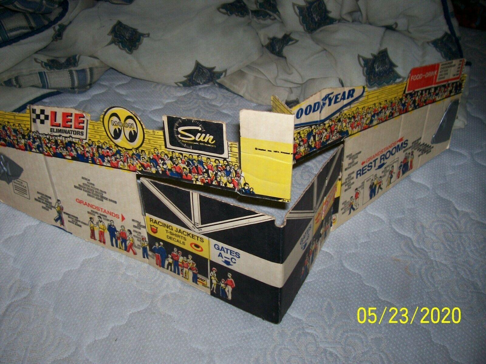 1974 Mattel Cardboard Racing Stand for Race Set - $25.00