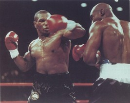 Mike Tyson Vs Evander Holyfield 8X10 Photo Boxing Picture Ring Action - $3.95