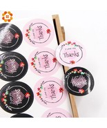 DIYHouse® 40PCS/Lot Round Thank You Tags Stickers Gift Tags Black&Pink P... - $2.69