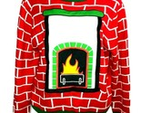 Party Sweater Mens Christmas Holidays Ugly Sweater Contest Fireplace Size L