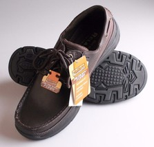 Skechers 64114 USA Mens Expected Gembel Relax Fit Oxford DK Brown SZ8.5 (L10-4) - $27.10