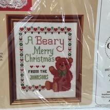 "A Beary Christmas Cross Stitch Kit Creative Circle #2429 8"" x 10"" - $9.74"