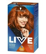 Schwarzkopf Live Colour MANGO TWIST Copper Ginger Hair Permanent + SHINE... - $15.89