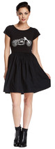 French Connection Martha Motorcycle Short Sleeve Jersey Dress Black - $24.99