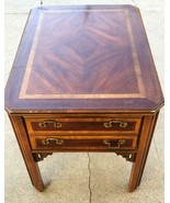"Vintage Lane Furniture Mid Century Side End Table w/ one Drawer 20""Wx27""... - £110.11 GBP"