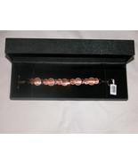 "Gems TV 925 Sterling Silver, Quality Fashion Toggle Bracelet 8"", Copper ... - $53.63"