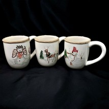 American Atelier CHRISTMAS TWIGS 3 Mugs - $27.88