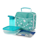 Arctic Zone Insulated Lunch Box w Container Water Bottle ice pack Stars ... - $16.01