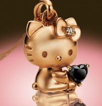 Hello Kitty Happy Diamond Heart 18K Pink Gold Jewelry Diamond Pendant - $2,365.10