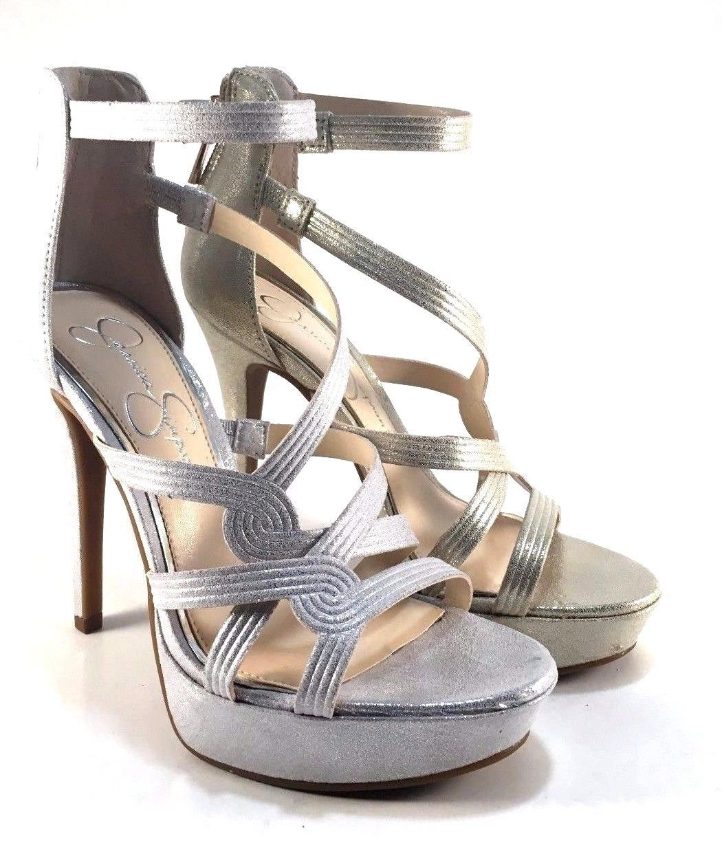 Primary image for Jessica Simpson Bellanne Shimmer Strappy Stiletto Dress Sandal Choose Sz/Color