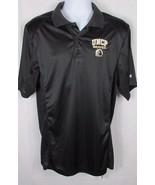 Mens NWT black polo style shirt Medium UNCP North Carolina PEMBROKE Braves  - $17.81