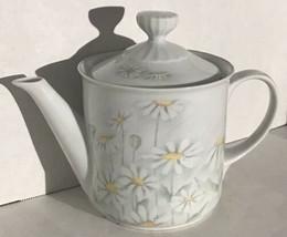 Denby Fine Porcelain Pastel Collection Serenade-Teapot - Portugal Daisies - $38.12