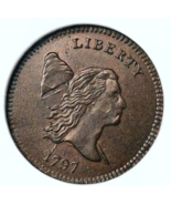 1797 Half Cent copper bullion coin excellent refund guarantee - $4.60