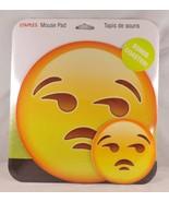 Staples Mouse Pad & Bonus Coaster - New - Meh Disapproving Emoji - $9.49
