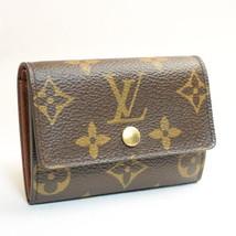 Louis Vuitton Monogram Porte Monnaie Plat Coin Case M61930 Lv Auth 7878 - $240.00