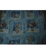 DISNEY FROZEN OLAF SNOWMAN BLUE TWIN FITTED SHEET BEDDING BLANKET CLEAN ... - $17.77
