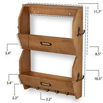 Wallniture 2 Sectional Entryway Décor Mail Holder Shelf Coat Rack with 12 Hooks  image 5