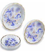 Dollhouse Flan Pan Set/3 Reutter 1.325/5 Blue Onion Pie Plate Miniature - $14.05