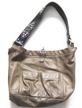 Tylie Malibu Bag Classic Utility Olive Green Leather Swarovski Crystal S... - $82.47