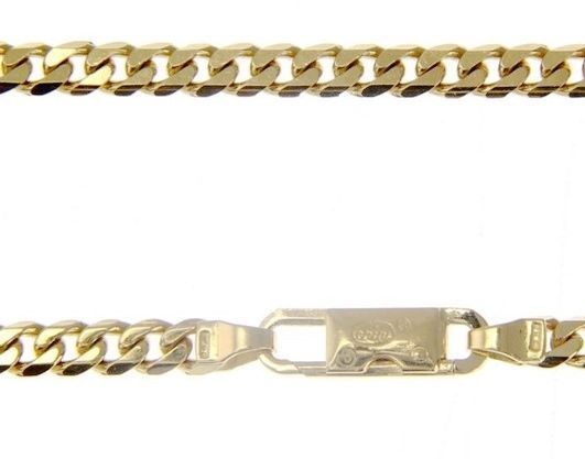 MASSIVE 18K GOLD GOURMETTE CUBAN CURB CHAIN 4 MM 20 INCH. NECKLACE MADE IN ITALY