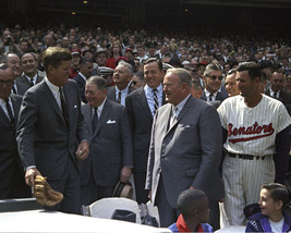 President John F. Kennedy with baseball glove at Opening Day 1963 Photo Print - $7.05+