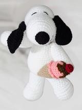 Snoopy Dog Crochet Amigurumi Doll Handmade Stuffed Toy Knitted Animals  - $47.99