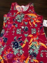 NWT Lularoe XL Dani Pink Teal Navy Blue Orange Tropical Floral Long Colu... - $47.03