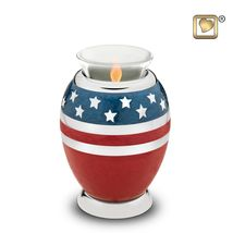 Stars & Stripes American Flag Adult Funeral Cremation Urn, 195 Cubic Inches image 4